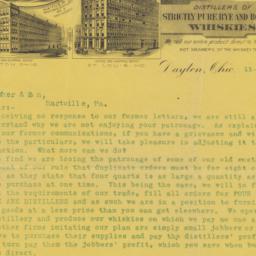 Hayner Distilling Co.. Letter
