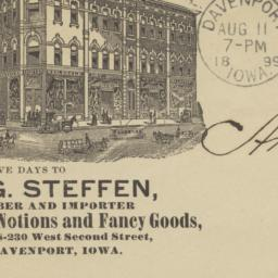 Aug. Steffen. Envelope