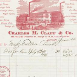 Charles M. Clapp & Co.. Bill