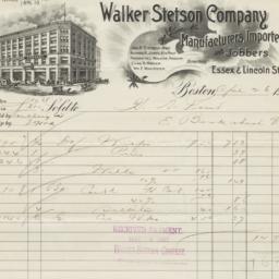Walker Stetson Company. Bill