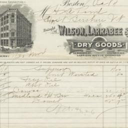 Wilson, Larrabee & Co.. Bill