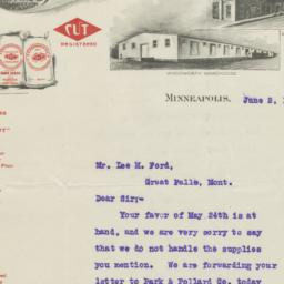 E. S. Woodworth & Co.. Letter
