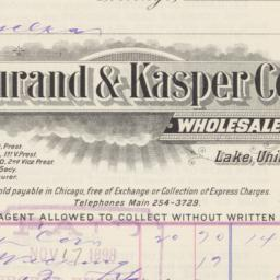 Durand & Kasper Co.. Bill