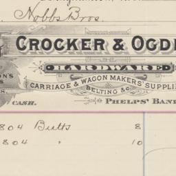 Crocker & Ogden. Bill