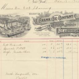 E. Frank Coe Company. Bill