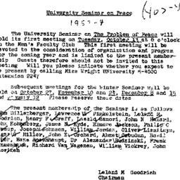 Announcements, 1953-10-01. ...