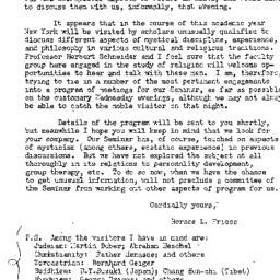 Announcements, 1951-10-08. ...