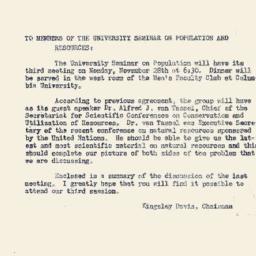 Announcements, 1949-11-22. ...