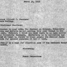 Correspondence, 1959-03-31....