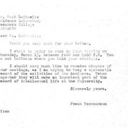 Correspondence, 1956-03-12....