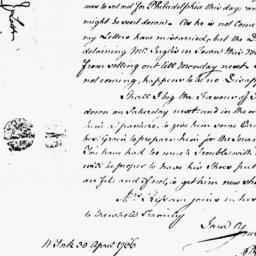 Document, 1766 April 30