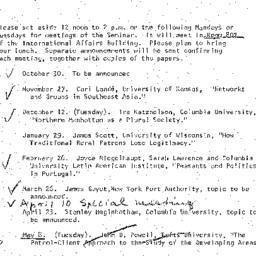 Announcements, 1972-09-21. ...