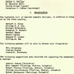 Minutes, 1952-10-08. The St...