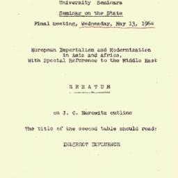 Handouts, 1964-05-13. The S...