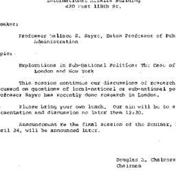 Announcements, 1972-03-27. ...