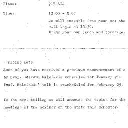 Announcements, 1976-02-28. ...