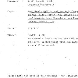 Announcements, 1977-03-03. ...
