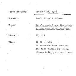 Announcements, 1975-10-28. ...