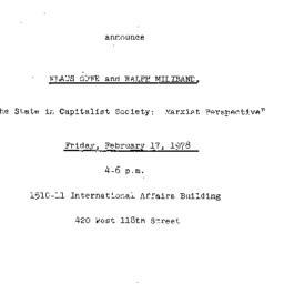 Announcements, 1978-02-17. ...