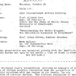 Minutes, 1981-10-29. The St...