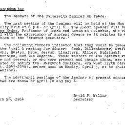 Minutes, 1954-03-23. The Pr...
