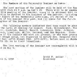 Minutes, 1954-04-06. The Pr...