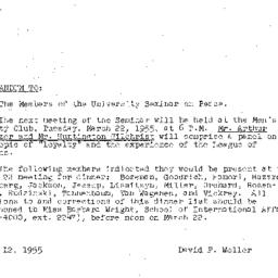 Minutes, 1955-03-08. The Pr...