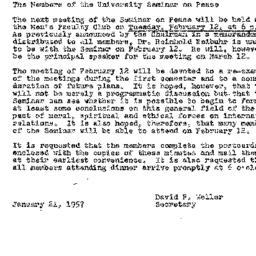 Minutes, 1957-01-08. The Pr...