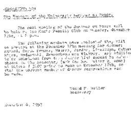 Announcements, 1957-11-06. ...