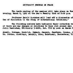 Announcements, 1960-02-23. ...