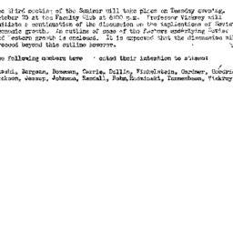 Announcements, 1959-10-06. ...
