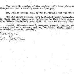 Announcements, 1961-12-12. ...