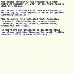 Announcements, 1964-02-17. ...