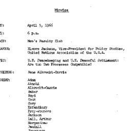 Minutes, 1966-04-05. The Pr...