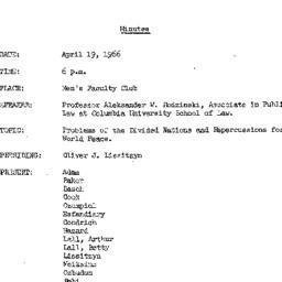 Minutes, 1966-04-19. The Pr...