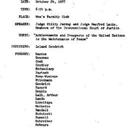 Minutes, 1967-10-24. The Pr...