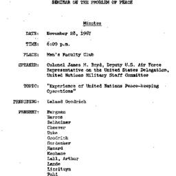 Minutes, 1967-11-28. The Pr...