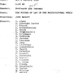 Minutes, 1971-10-05. The Pr...
