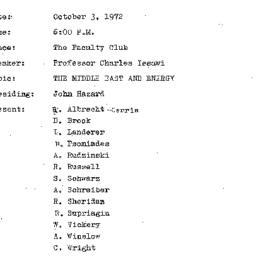 Minutes, 1972-10-03. The Pr...