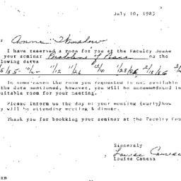 Correspondence, 1986-07-10....