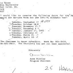 Correspondence, 1995-04-12....