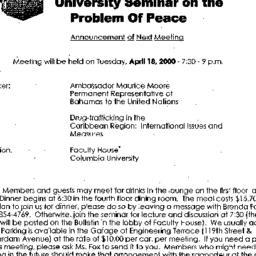Announcements, 2000-04-18. ...