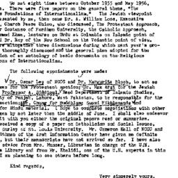 Correspondence, 1956-05-07....