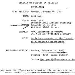 Announcements, 1977-01-24. ...