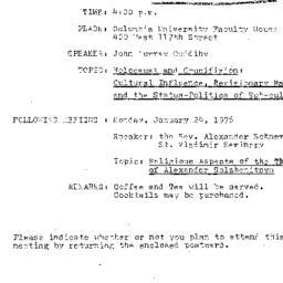 Announcements, 1976-12-13. ...