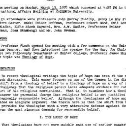 Minutes, 1978-03-13. Studie...