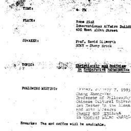 Announcements, 1984-12-03. ...