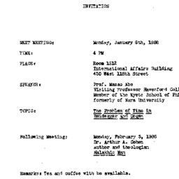 Announcements, 1986-01-06. ...