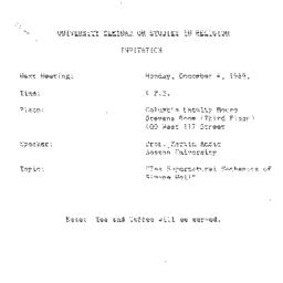 Announcements, 1989-12-04. ...