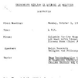 Announcements, 1990-10-01. ...